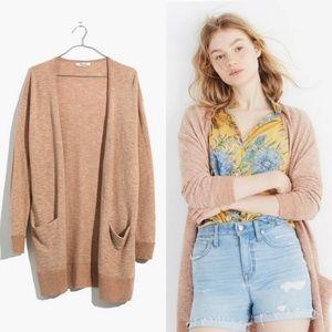 MADEWELL summer ryder cardigan sweater in stripe